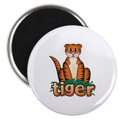 "Cartoon Tiger 2.25"" Magnet (10 pack)"