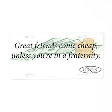 Cheap Friends Aluminum License Plate
