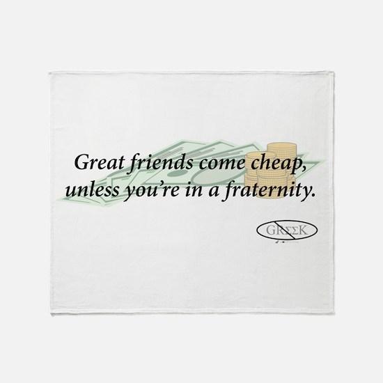 Cheap Friends Throw Blanket