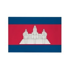 Cambodian Flag Rectangle Magnet