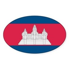Cambodian Flag Oval Decal