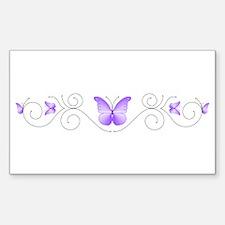 Purple Butterflies Decal