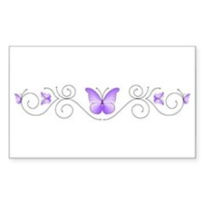 Purple Butterflies Stickers