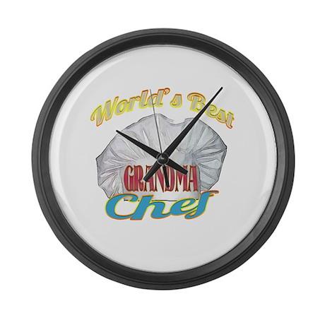 World's Best Grandma / Cook Large Wall Clock