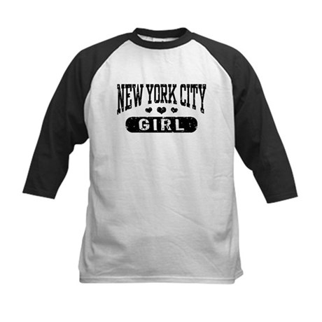 New York City Girl Kids Baseball Jersey