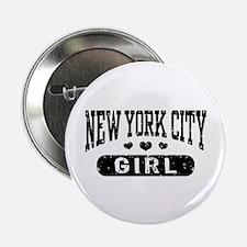 """New York City Girl 2.25"""" Button"""