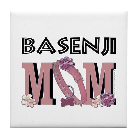 Basenji MOM Tile Coaster