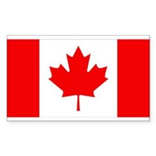 Canadian Flag Rectangle Decal