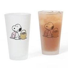 Beagle and Bunny Drinking Glass