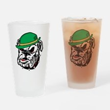 Irish Bulldog Drinking Glass