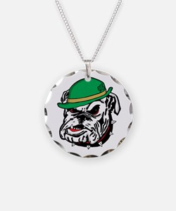 Irish Bulldog Necklace Circle Charm