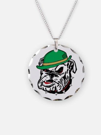 Irish Bulldog Necklace Circle Charm