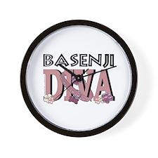 Basenji DIVA Wall Clock