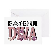 Basenji DIVA Greeting Card