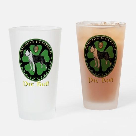 always faithful pit bull Drinking Glass