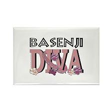 Basenji DIVA Rectangle Magnet