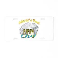 World's Best Papaw / CHEF Aluminum License Plate