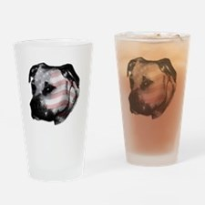 DISTINGUISHED PIT BULL HEAD Drinking Glass