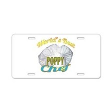 WORLD'S BEST POPPY / CHEF Aluminum License Plate