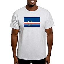 Cape Verde Flag Ash Grey T-Shirt