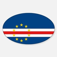 Cape Verde Flag Oval Decal