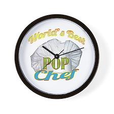 WORLD'S BEST POP/ CHEF Wall Clock