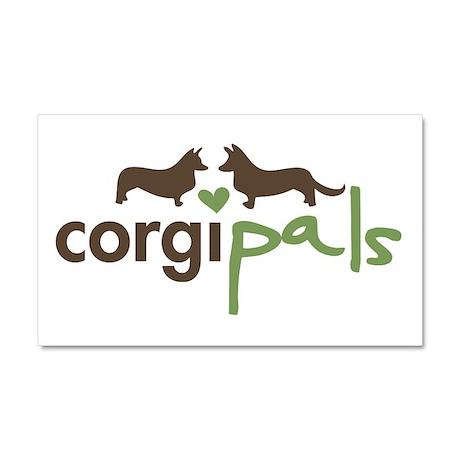 CorgiPals Logo Car Magnet 20 x 12
