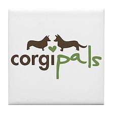 CorgiPals Logo Tile Coaster