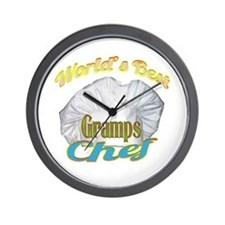 WORLD'S BEST GRAMPS / CHEF Wall Clock