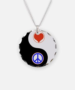 Ying Yang Peace Love Necklace