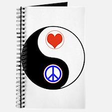 Ying Yang Peace Love Journal