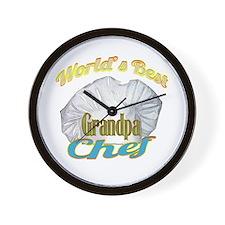WORLD'S BEST GRANDPA / COOK Wall Clock