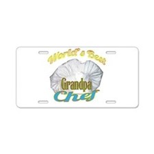 WORLD'S BEST GRANDPA / COOK Aluminum License Plate