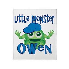 Little Monster Owen Throw Blanket