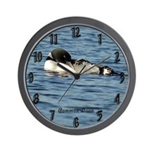 Loon preening Wall Clock
