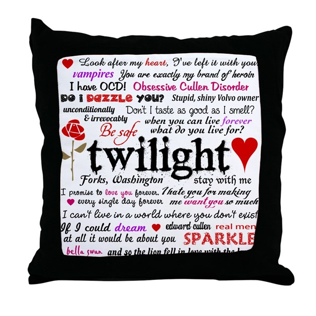 Throw Pillows Quilted : Twilight Quotes Throw Pillow by designdivagifts