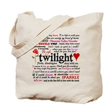 Twilight Quotes Tote Bag