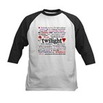 Twilight Quotes Kids Baseball Jersey