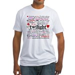 Twilight Quotes Fitted T-Shirt