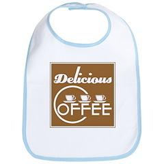 Delicious Coffee Baby Bib
