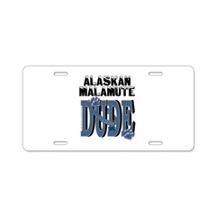 Malamute DUDE Aluminum License Plate