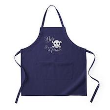 Yes I am a Pirate Apron (dark)
