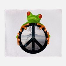 Cute Peace earth Throw Blanket
