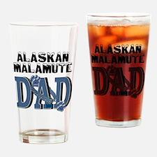 Malamute DAD Drinking Glass