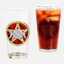 Pentagram Triple Goddess Drinking Glass