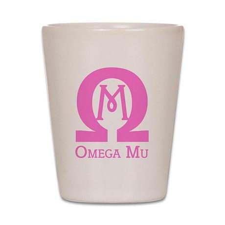Omega MU - Pink - Shot Glass