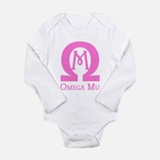Omega MU - Pink - Long Sleeve Infant Bodysuit
