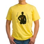 Any Qs ? Yellow T-Shirt
