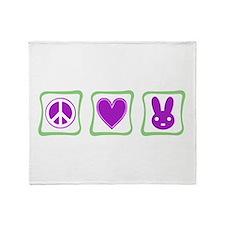 Peace, Love and Bunnies (Squa Throw Blanket