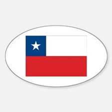 Chilean Flag Oval Decal